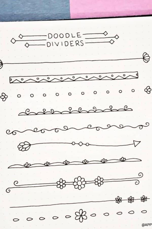 easy divider ideas for bullet journal