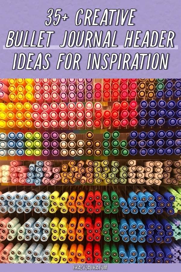 bullet journal header doodle ideas