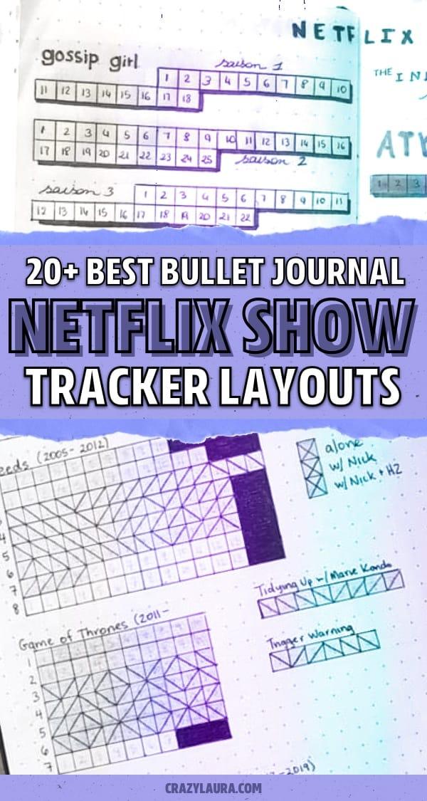 easy layout for bujo netflix spread