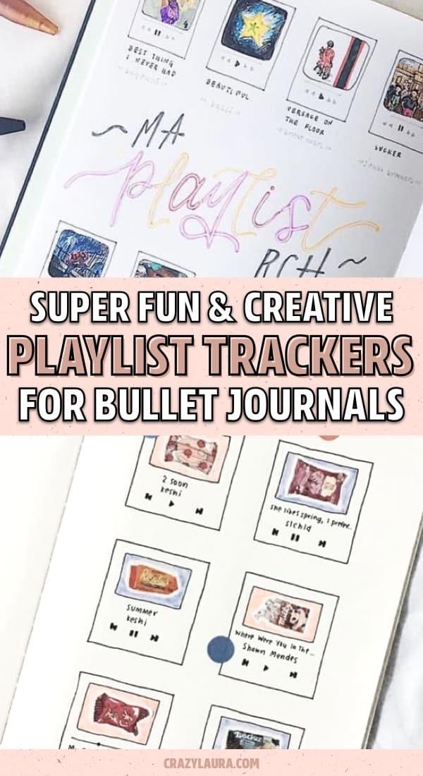 bullet journal playlist spread inspiration
