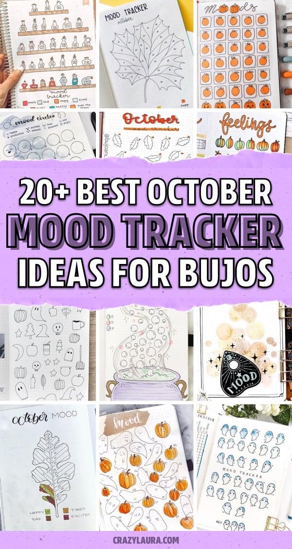 bullet journal october mood tracking ideas