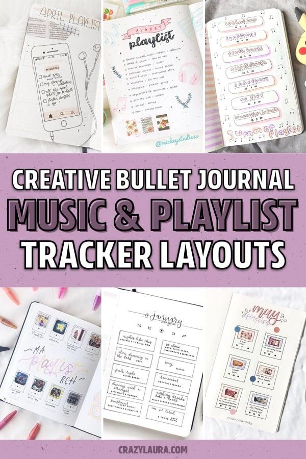 best bujo playlist tracker spreads