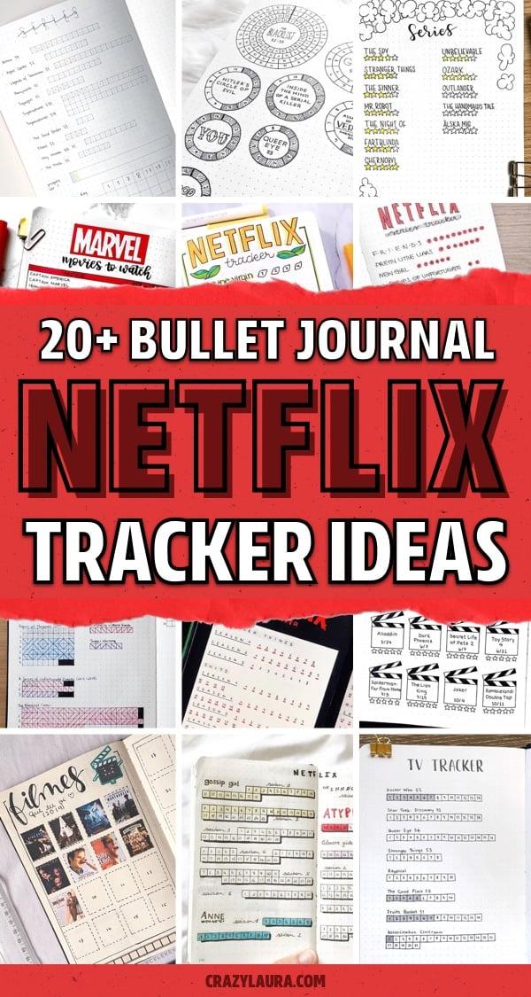 creative netflix bujo trackers