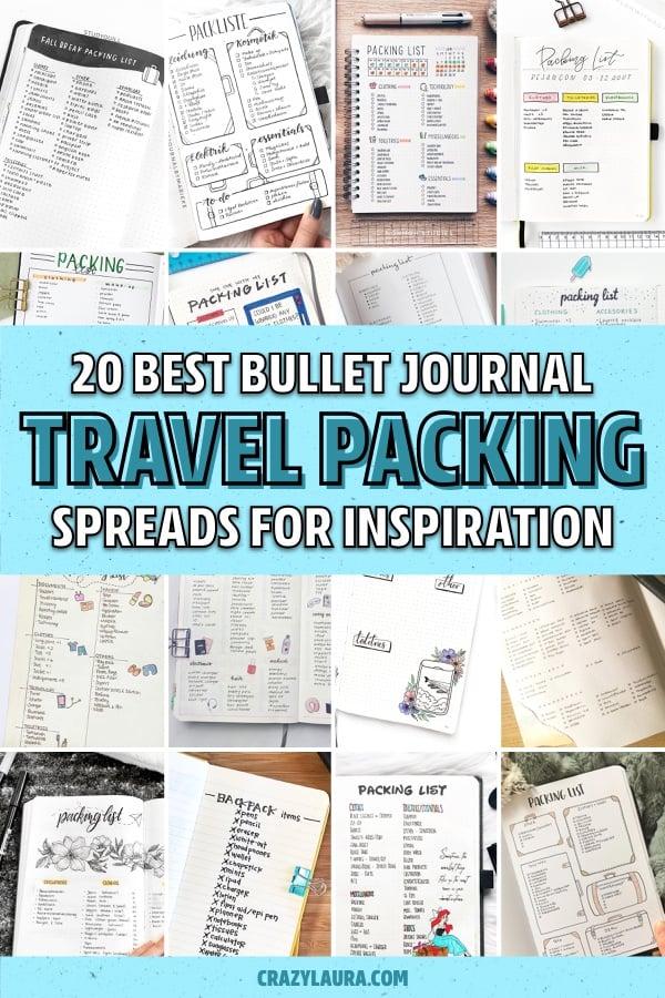 bullet journal packing tracker ideas