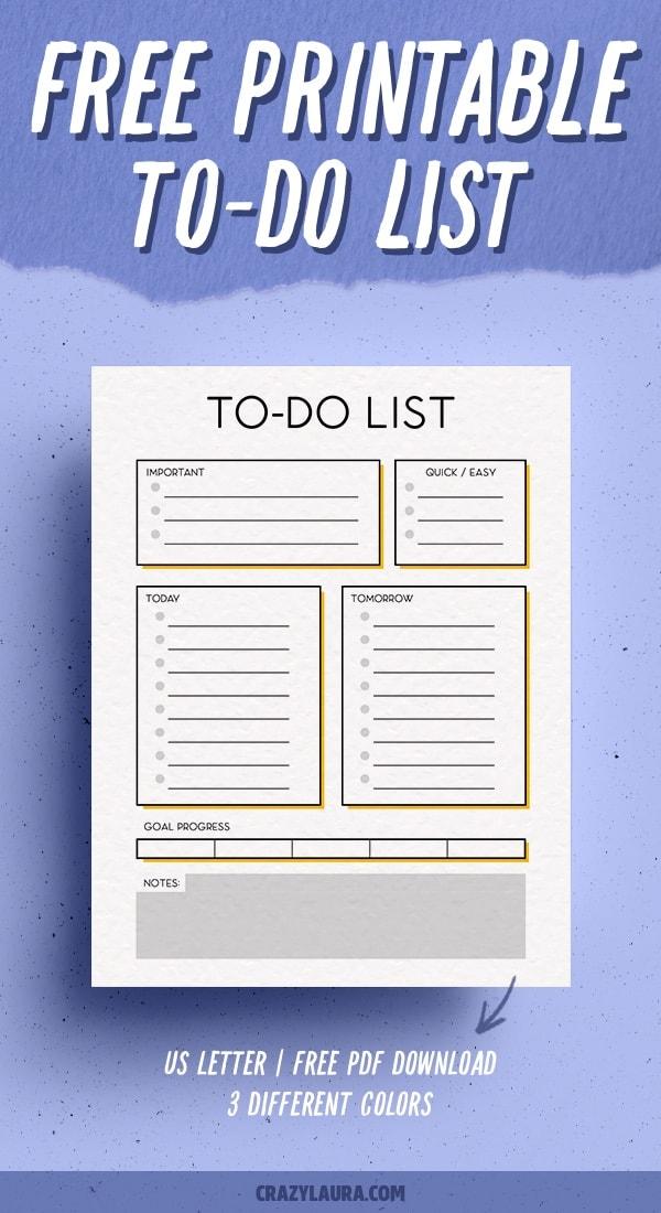 free pdf to do list