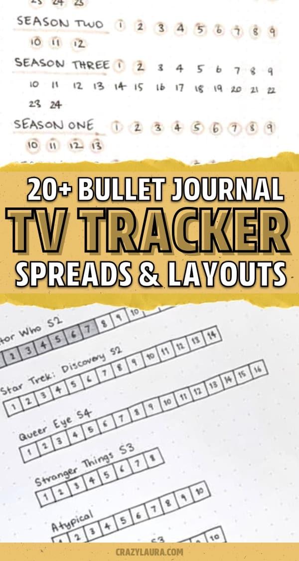 netflix spread for bullet journal