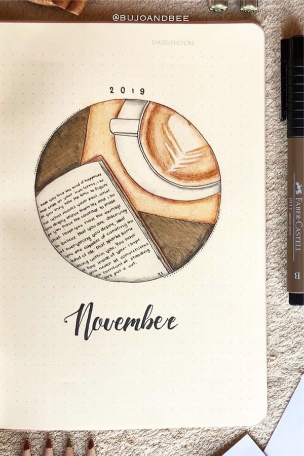 creative monthly cover ideas for november