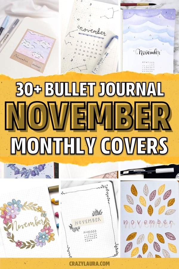 easy ideas for november bullet journal covers