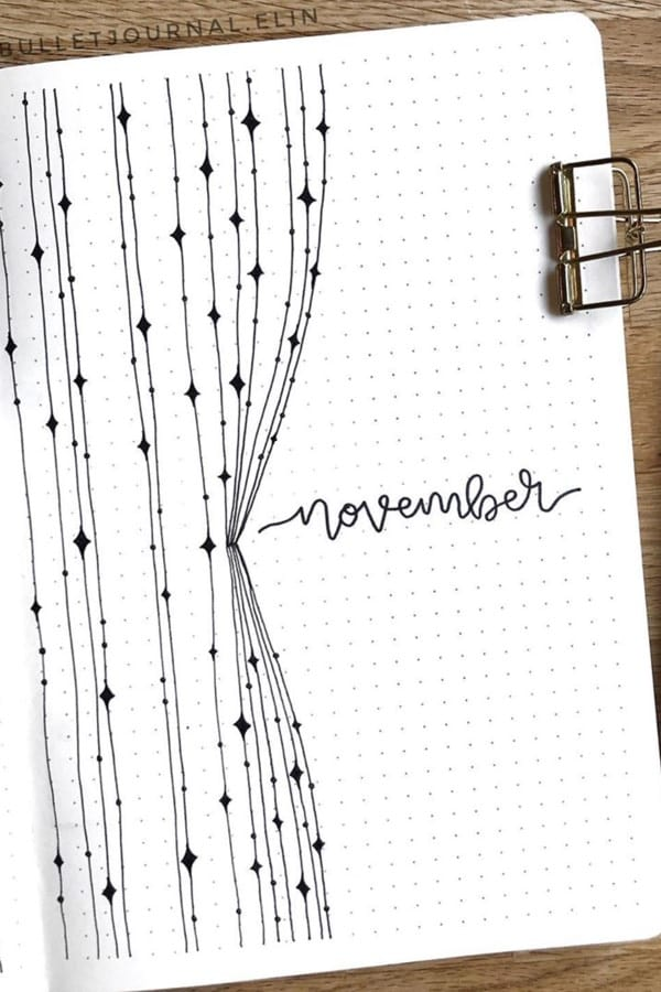 creative monthly cover spread for november