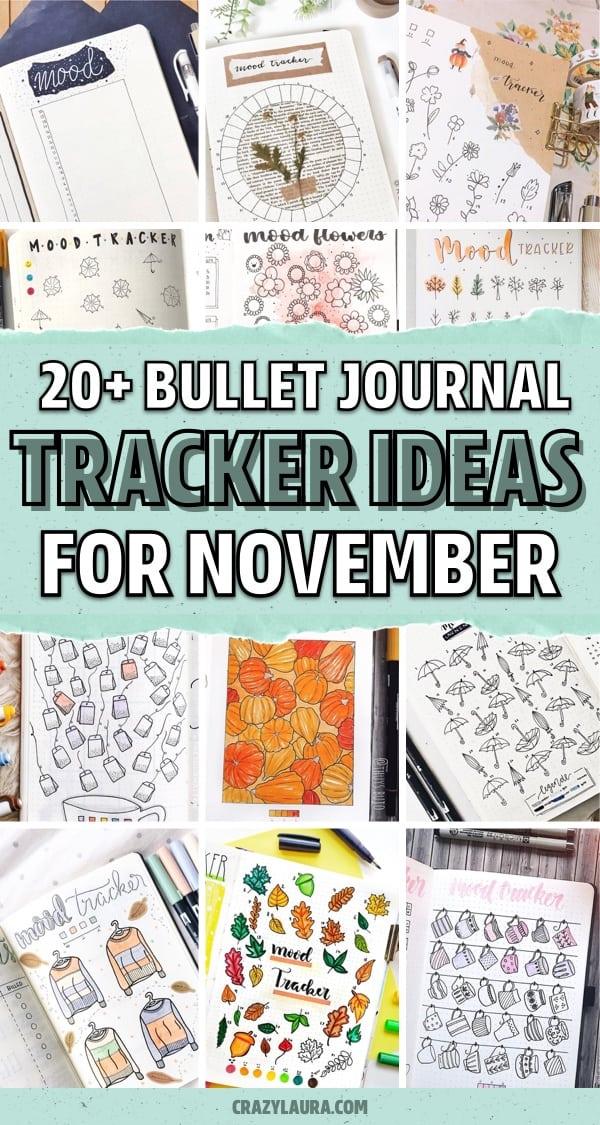 bullet journal autumn mood tracker inspo
