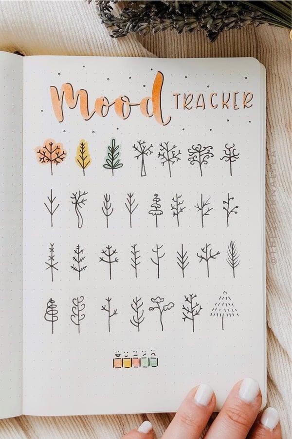 autumn tree feelings tracker