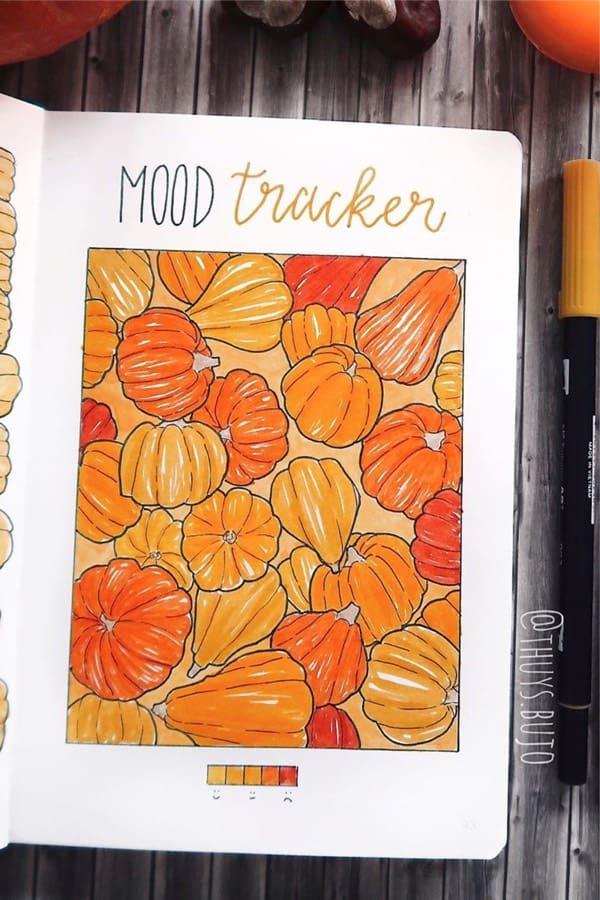bujo mood spread for november