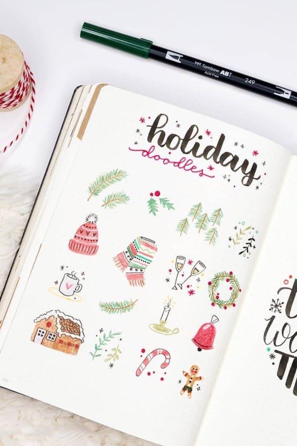 best doodle ideas for winter