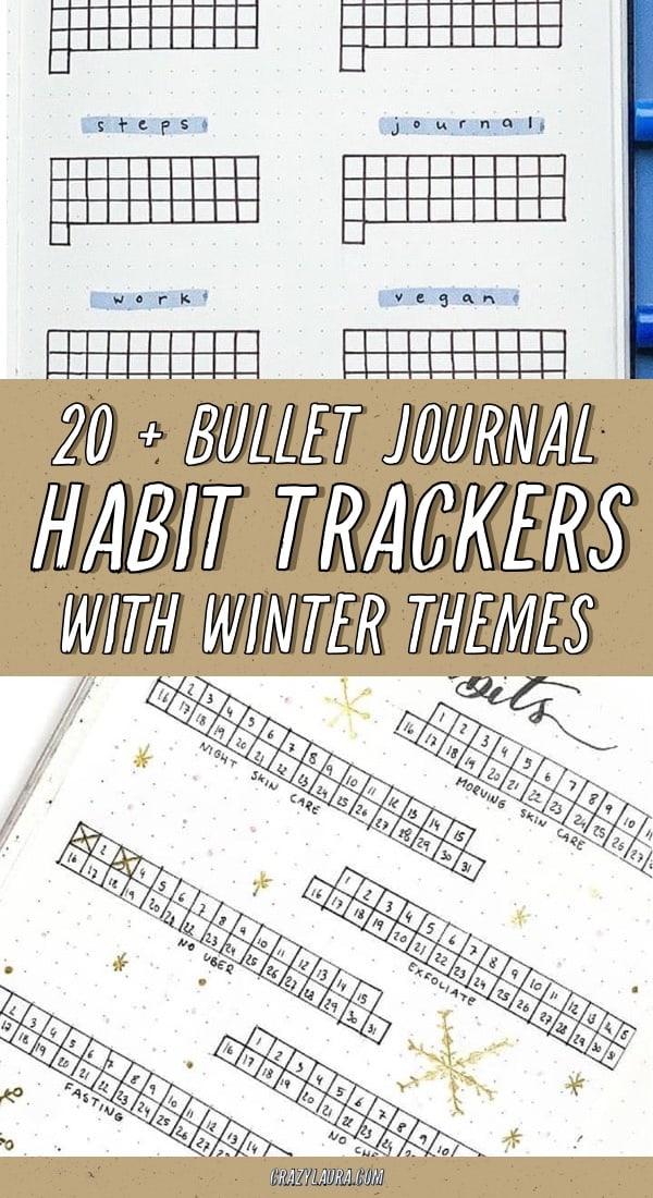 easy habit tracker ideas for winter