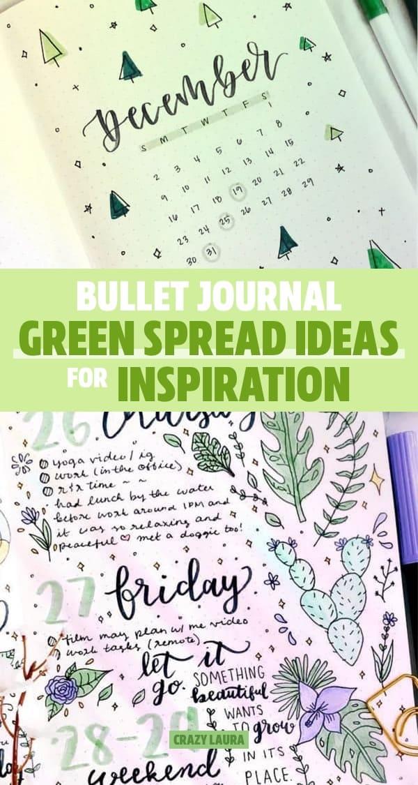 best green bullet journal layouts
