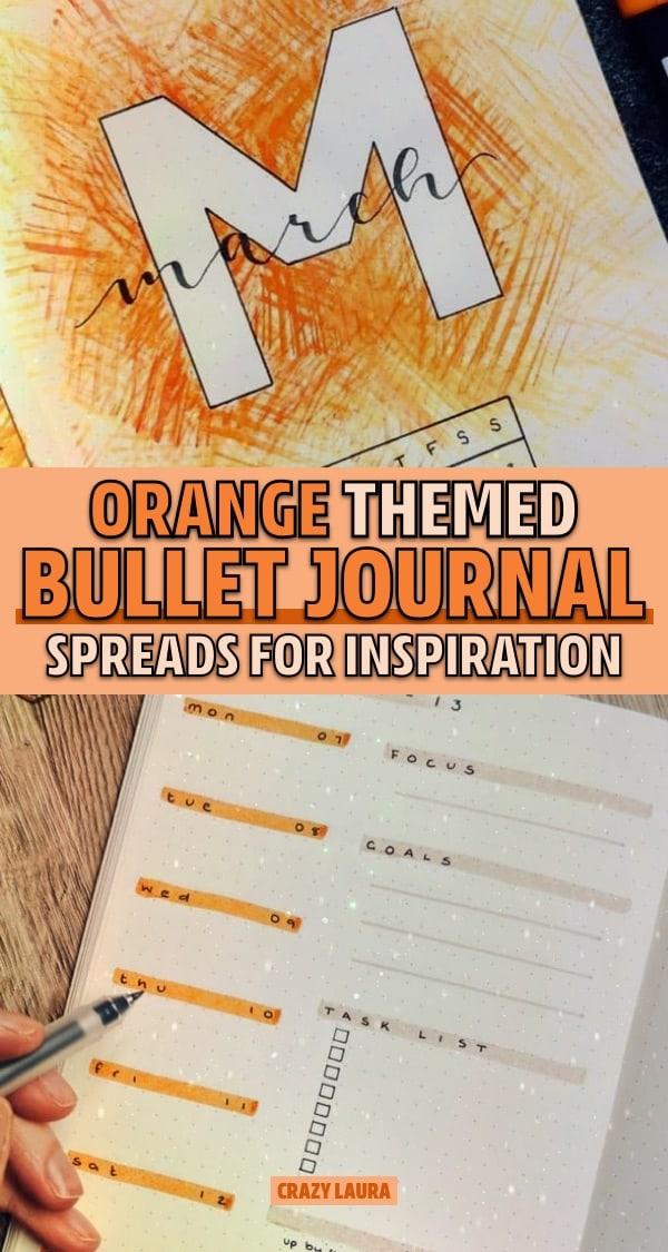 orange bujo spread examples
