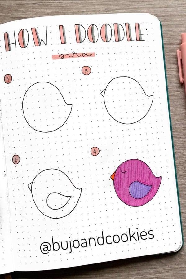 cute animal doodle tutorial