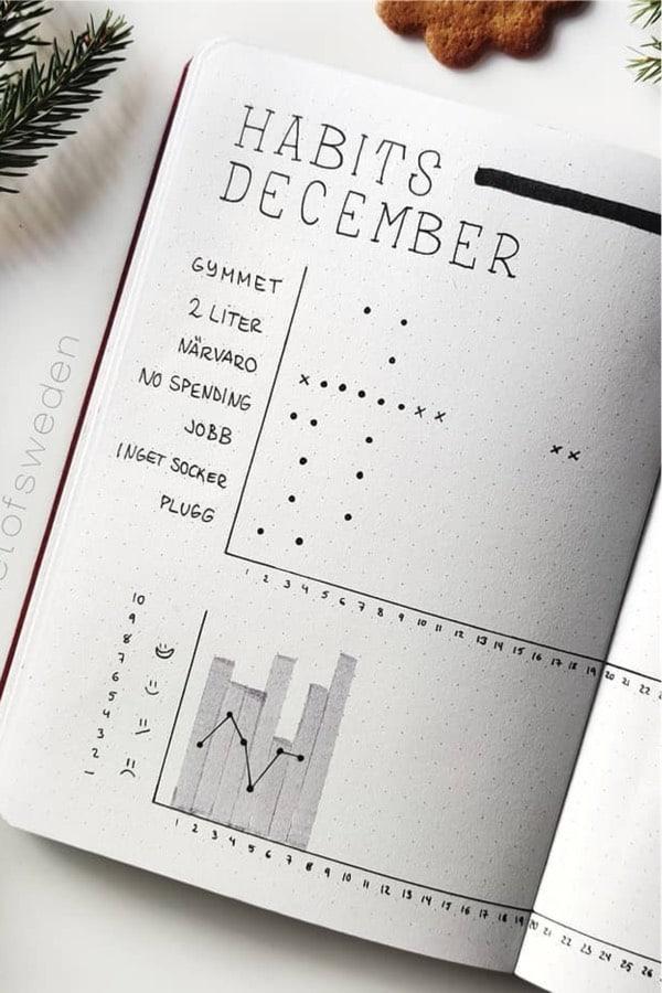 december ideas for habit tracker
