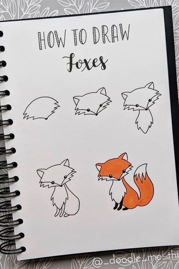 simple ways to draw animals