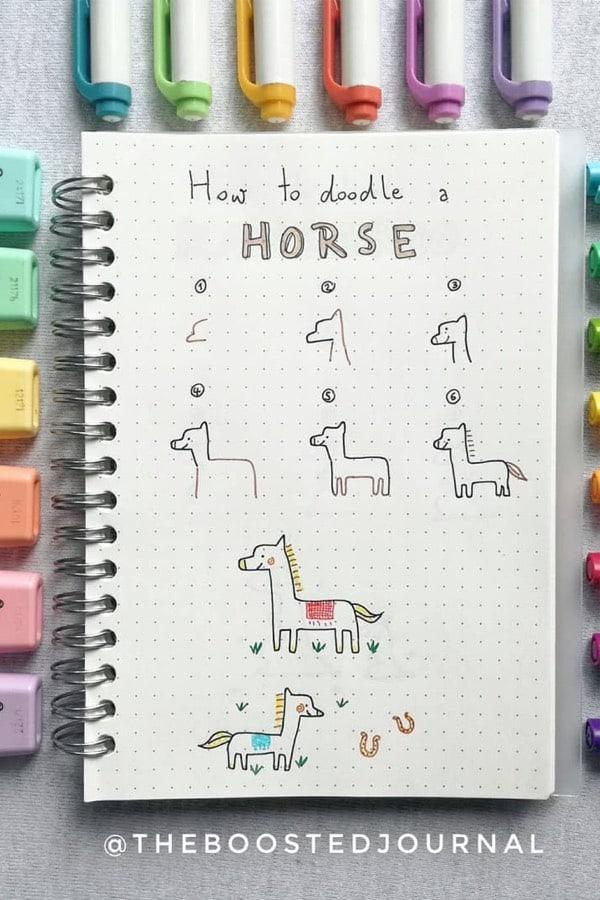 best bujo animal doodle ideas