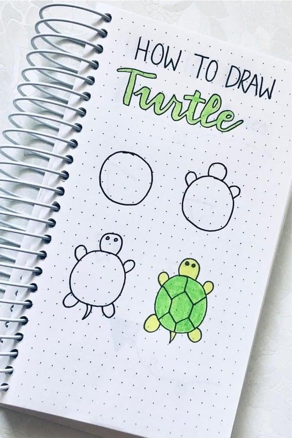 animal doodle tutorial for bullet journal