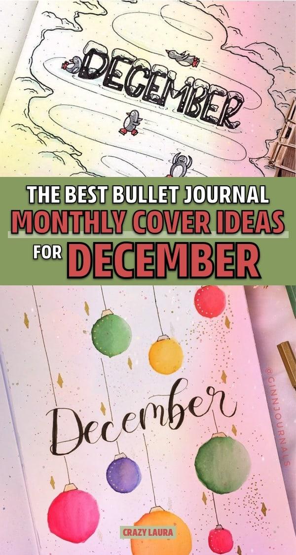 simple december bullet journal covers