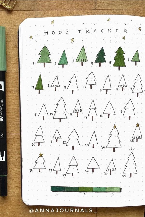 mood tracker ideas for winter