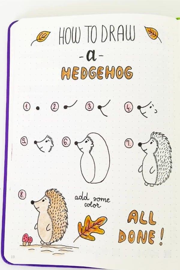 simple animal drawings for bujo