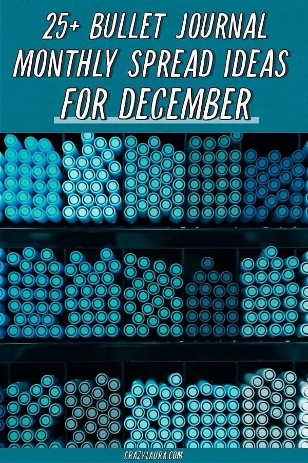 best bujo spreads for december