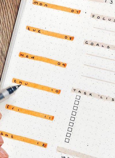 best ideas for orange bullet journal pages
