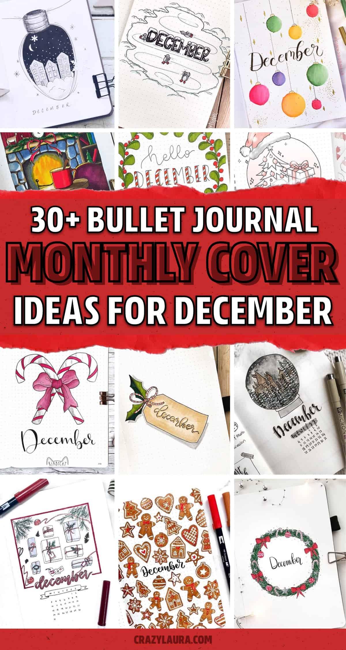 bullet journal cover ideas for winter