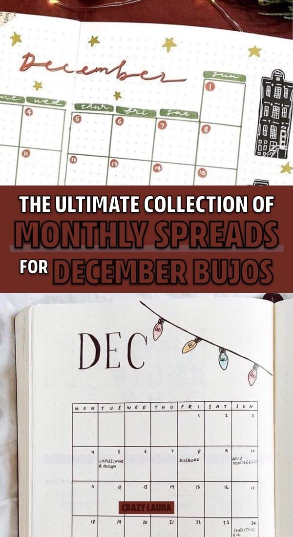 easy dec monthly spread ideas