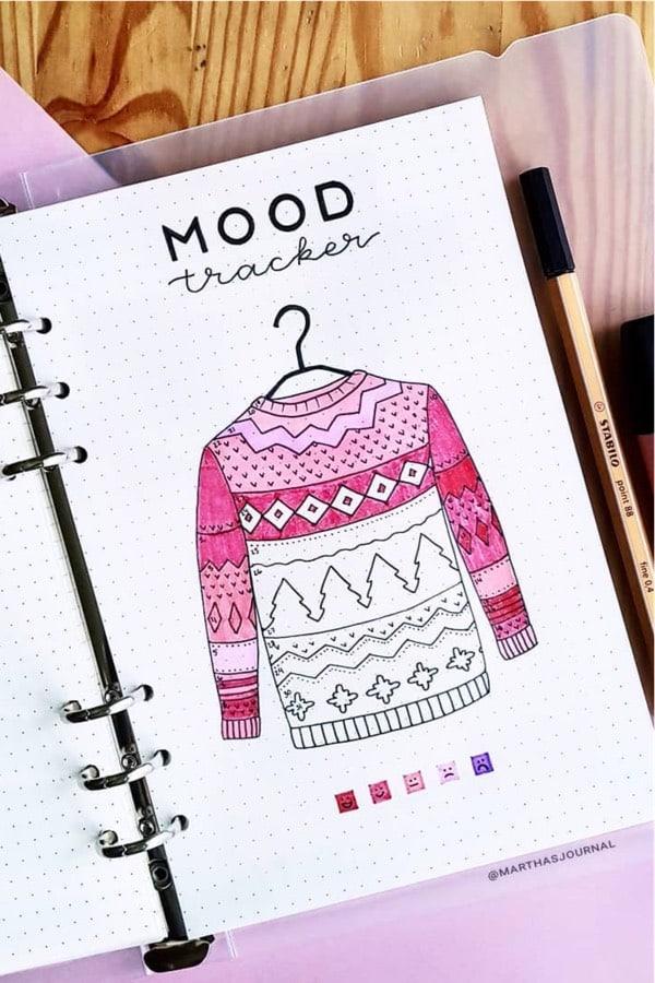 creative december mood tracker ideas