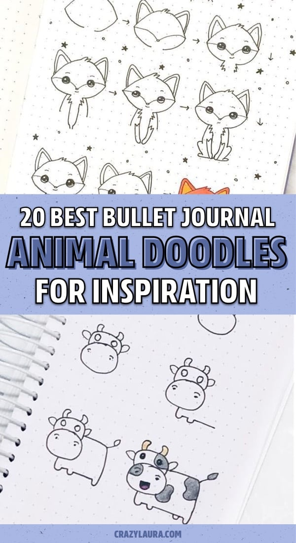 animal drawing for journal