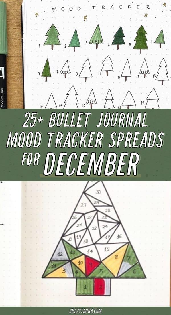 winter themed bujo mood spreads