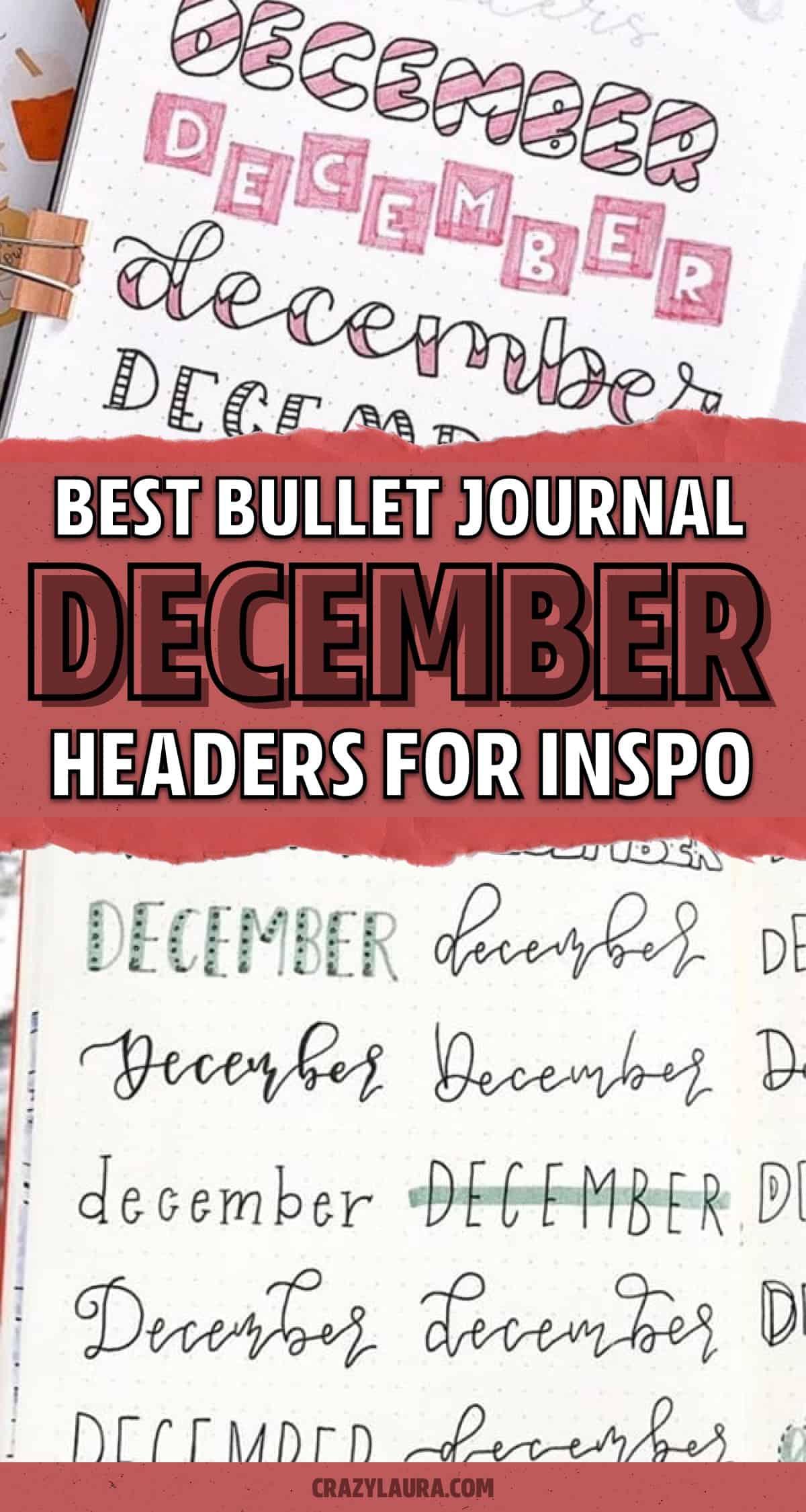 easy journal headers for winter