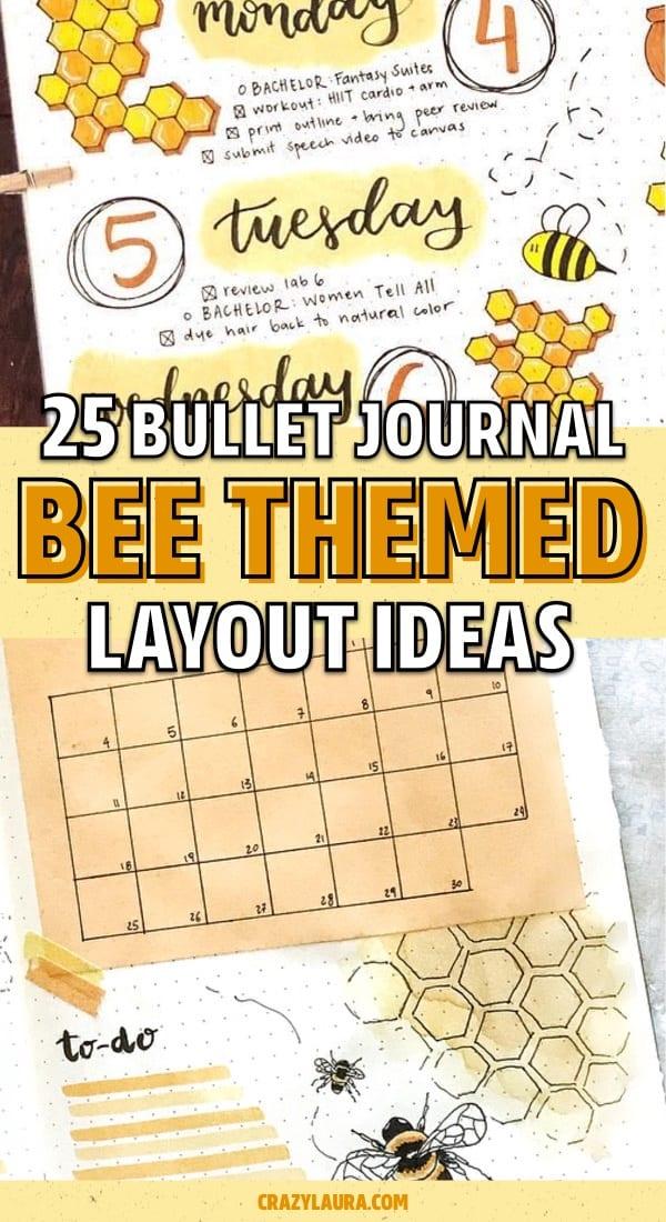 creative bee bullet journal ideas