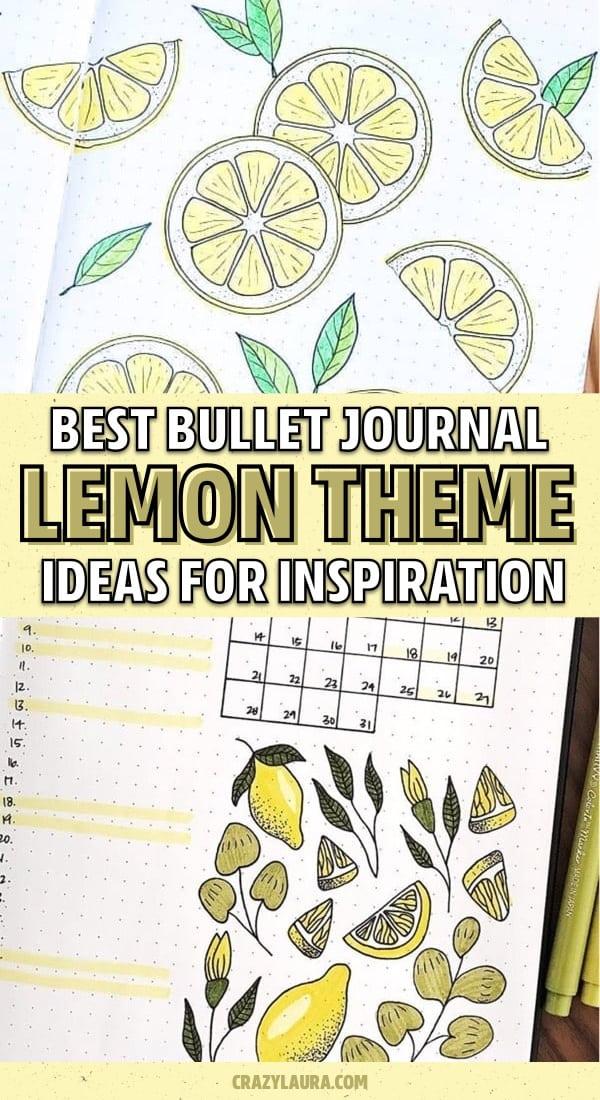 list of lemon theme bujo layouts