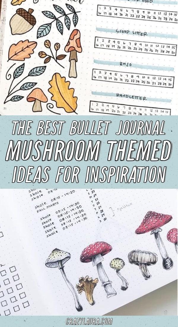 best mushroom themed bujo ideas
