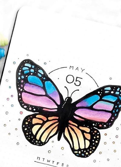 best butterfly themed bujo layouts