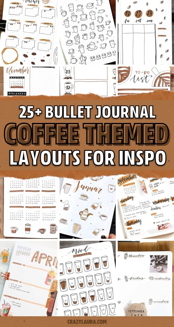 bujo coffe theme examples