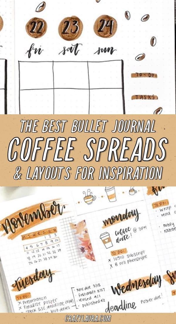 best espresso themed bujo ideas