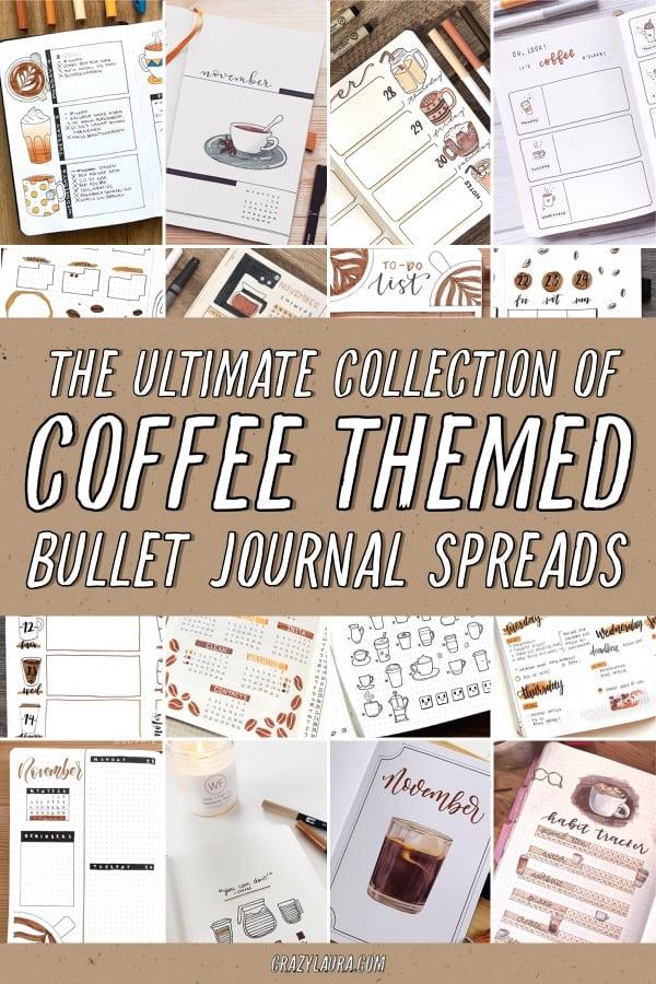 bujo ideas with coffee theme
