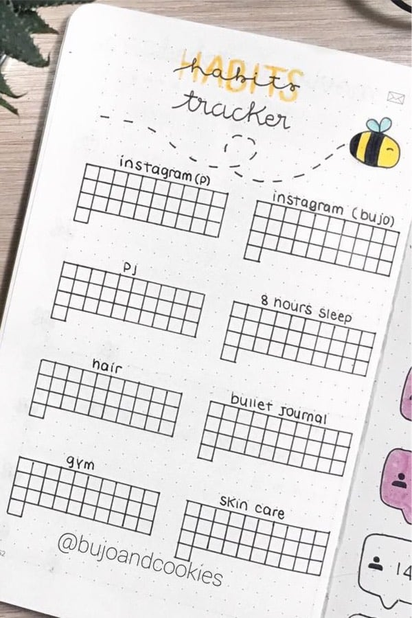 best ideas for bee bujo spread