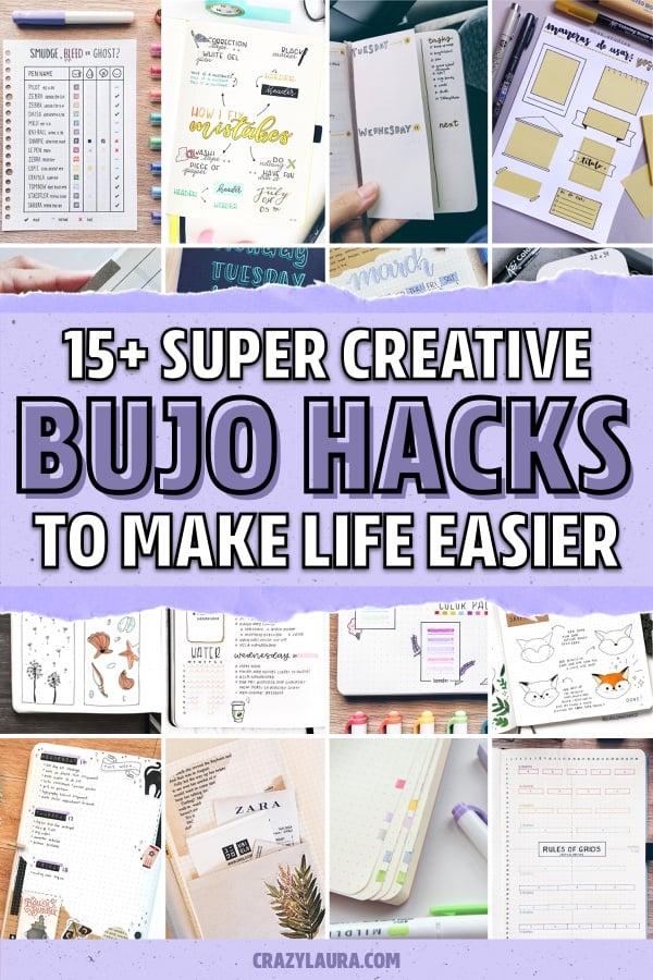 best hacks for bullet journal spreads