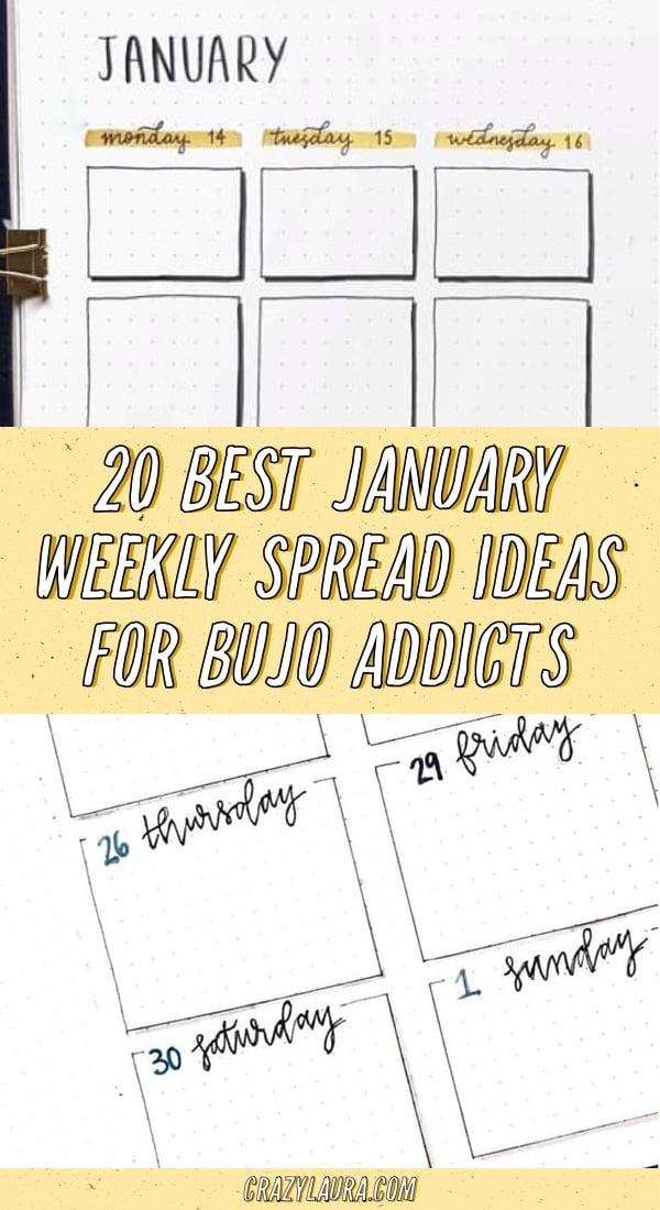 best ideas for january bullet journals