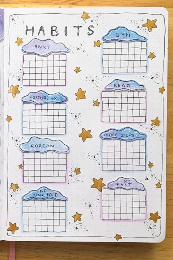 january tracker with clouds