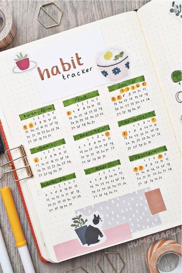 best habit tracker ideas for january