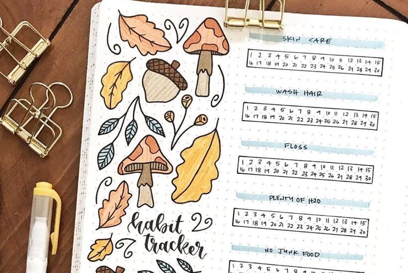 20 Best Mushroom Themed Bullet Journal Spreads For 2020