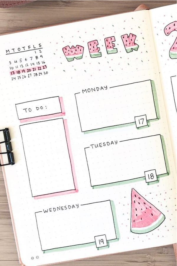 layout examples with watermelon